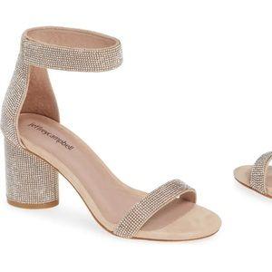 Laura Crystal Embellished Ankle Strap Sandal